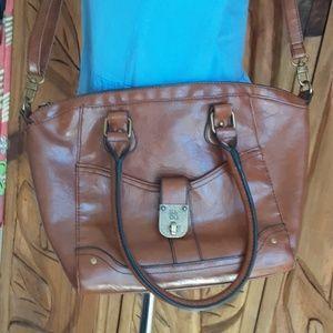 Pleather Brown Bag